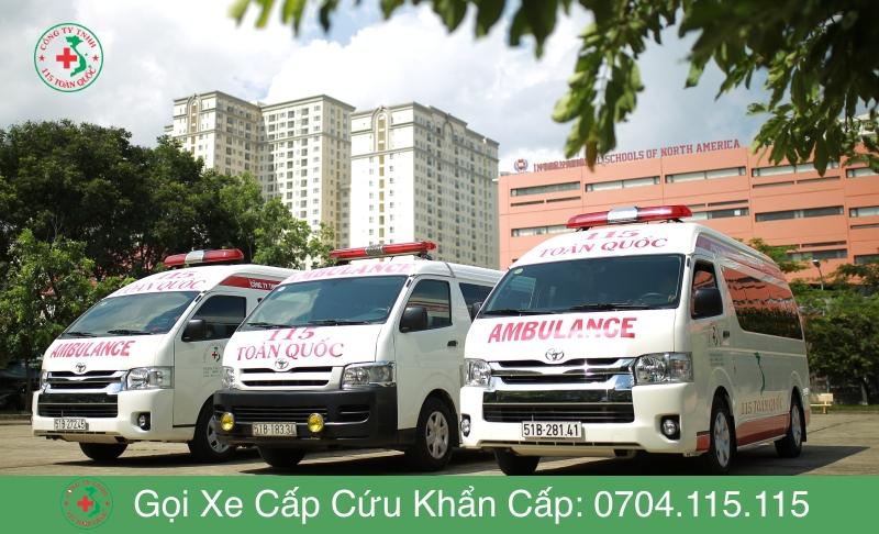 chi phí xe cấp cứu